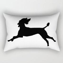 Joyful Poodle!  Rectangular Pillow