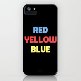 Red Yellow Blue iPhone Case