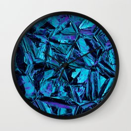 Blue Leather Skin Distortion Wall Clock