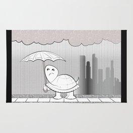 Rainy Day, Sad Turtle Rug