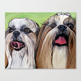 Shih Tzu Dog Art Canvas Print