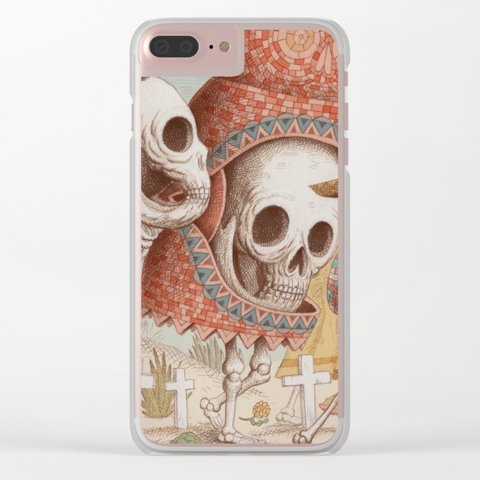 Mexican Skulls 1 Clear iPhone Case
