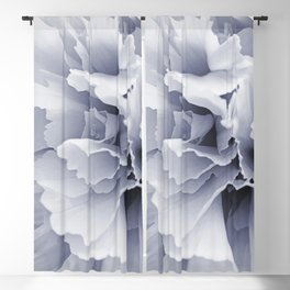 Grey Peony Bloom Blackout Curtain