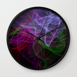 Smooth smoke waves of multiple colors Wall Clock