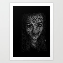 Typographic Self Portrait Art Print