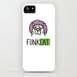 Funk Cat iPhone Case
