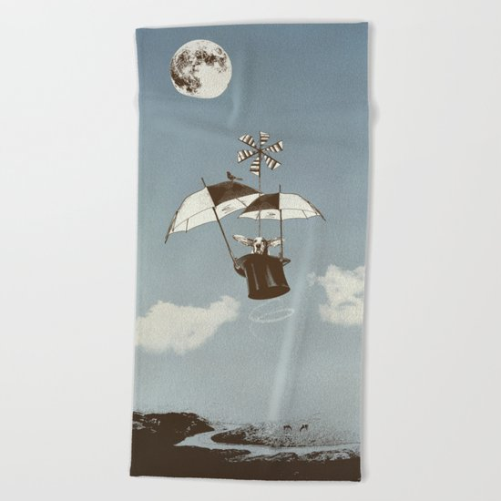 Over the Amazon to the Moon Beach Towel
