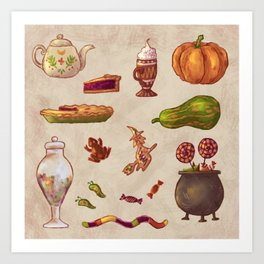 Witchy snacks Art Print