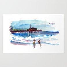 At the Pier Art Print
