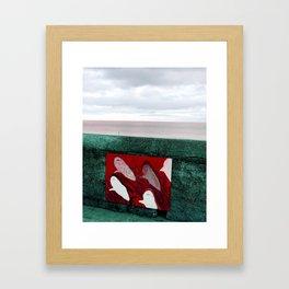 red sharks Framed Art Print