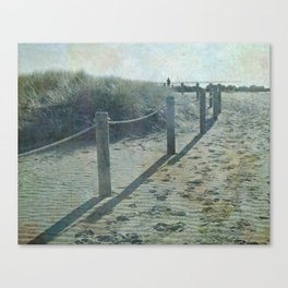 Old worlde beach scene Canvas Print