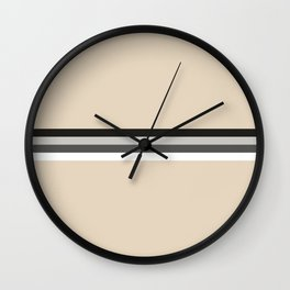 Doppelgaenger - Minimal Retro Look Stripes Wall Clock