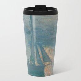 Claude Monet - Marine Sunrise, 1873 Travel Mug