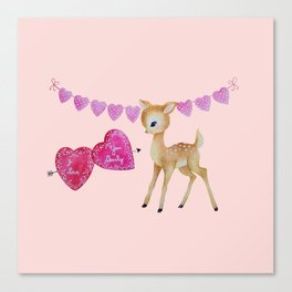 Love You Deerly Canvas Print