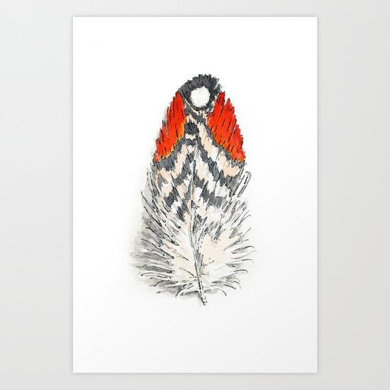 Red Feather -01 Art Print