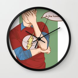 Sheldon Cooper Facepalm Wall Clock