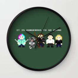 Team Dresden: It Is Dangerous To Go Alone Wall Clock