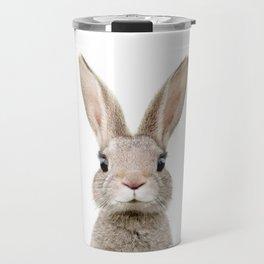 Baby Rabbit Portrait Travel Mug