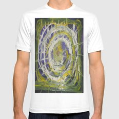 Earth Goddess Abstract Art Mens Fitted Tee White MEDIUM