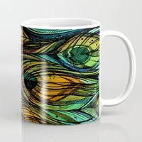 feathers Mugs featuring Feathers by S.G. DeCarlo