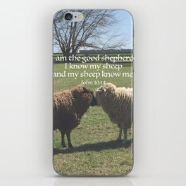 Two Sheep with scripture iPhone Skin