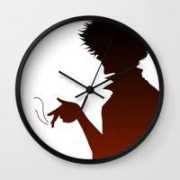 cowboy bebop Wall Clocks featuring Cowboy Bebop by AWAL