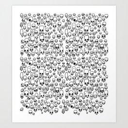 mini skulls Art Print