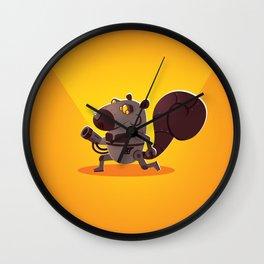 Robo Squirrel Wall Clock