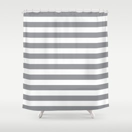 Horizontal Grey Stripes Shower Curtain