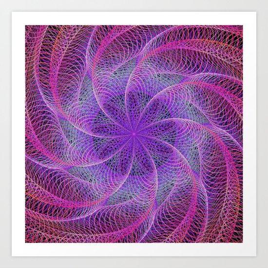 Pink spiral magic Art Print