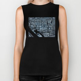 Washington DC Blueprint watercolor map Biker Tank