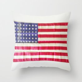 Vintage American Flag | Americana Photograph Throw Pillow