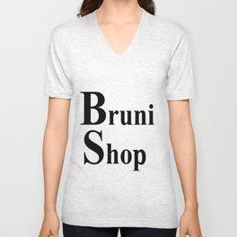 Bruni Shop words Unisex V-Neck