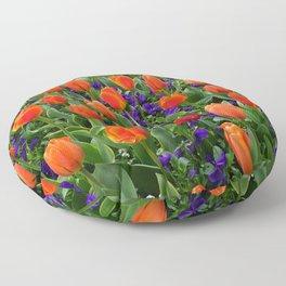 Tulip Field 2 Floor Pillow