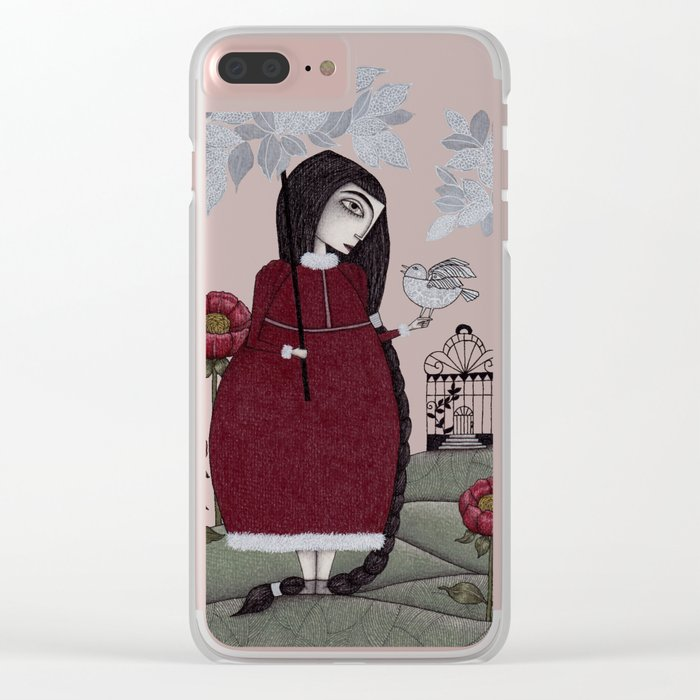 Winterbird, or Hope is a Thing With Feathers Clear iPhone Case