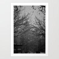 Winter Snow Vail Colorado Art Print