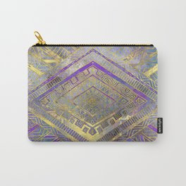 Tribal  Ethnic Boho Pattern gold and gentle purples Carry-All Pouch