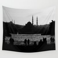 istanbul Wall Tapestries featuring Istanbul by habish