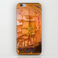 pirate ship iPhone & iPod Skins featuring pirate ship by Vector Art