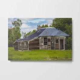 Unusual Abandoned Building, Burleigh County, ND 9 Metal Print