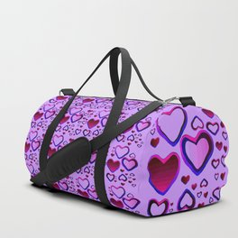 Transparent Heart Duffle Bag