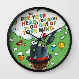 Use Your Head Wall Clock