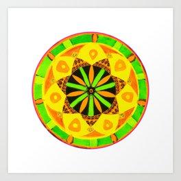 Jamaican Rhythm Mandala Art Print