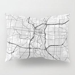 San Antonio Map White Pillow Sham