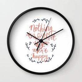 Worth It Wall Clock
