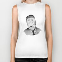 liam payne Biker Tanks featuring Liam Payne with painted face by Drawpassionn