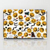 halloween iPad Cases featuring halloween by mark ashkenazi