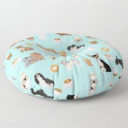 Coffee Dogs cute miniature dog breeds chihuahua bichon terrier Shih tzu pomeranian latte coffees Floor Pillow