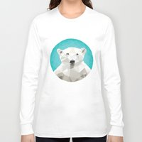triangles Long Sleeve T-shirts featuring ♥ SAVE THE POLAR BEARS ♥ by ℳixed ℱeelings