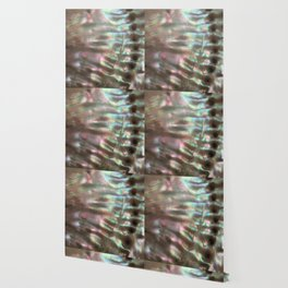 Shimmery Greenish Pink Abalone Mother of Pearl Wallpaper